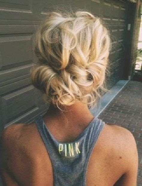 homecoming hairstyles messy bun messy low bun prom hairy bitches pinterest