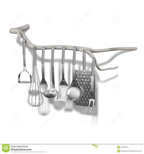organic tree branch  kitchen utensils hanger decoration