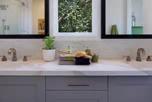 bathroom modern tile ideas backsplash: half tiled bathroom backsplash contemporary bathroom