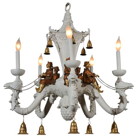White Painted Chandelier Style White Painted Chandelier At 1stdibs