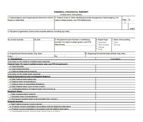 financial reporting templates in excel sle financial report template 10 free documents