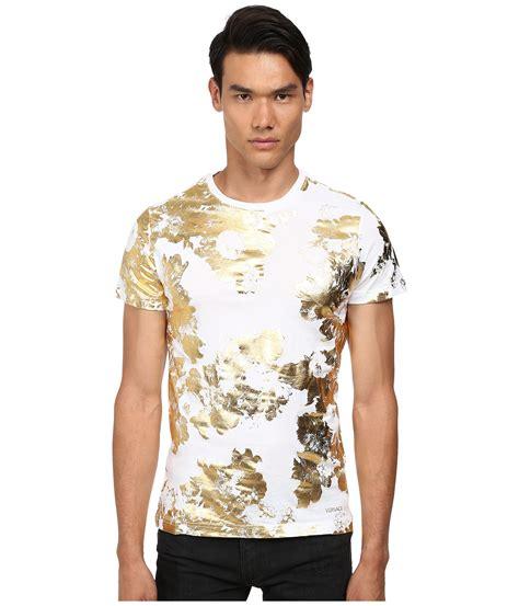Versase Pink Black Korea Shantcoll white and gold mens shirt is shirt