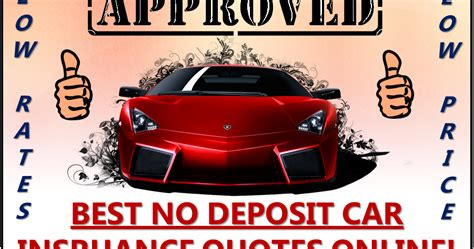 Cheap No Deposit Car Insurance Policy, Low Deposit, Zero