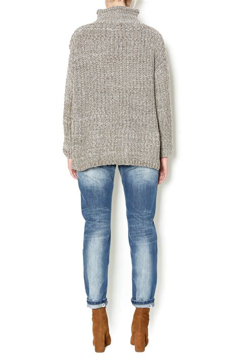 Chunky Knit Mock Neck Sweater nu new york mock neck chunky sweater from union square