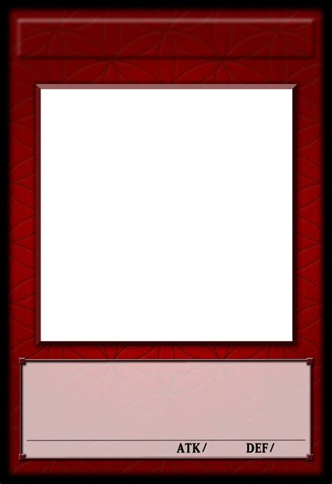 yugioh card template photoshop yu gi oh fractional template by polarbearoc on