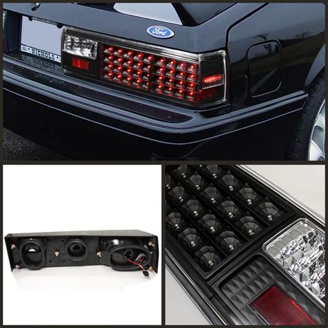 mustang led tail lights onebigoutlet 1987 1993 ford mustang tail light