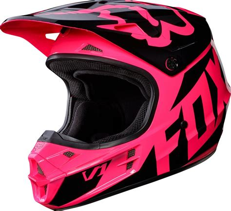 motocross helmets fox fox racing womens v1 race dot approved motocross mx helmet