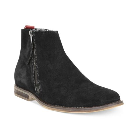 Zip Boots lyst guess mens shoes hanley zip boots in black for