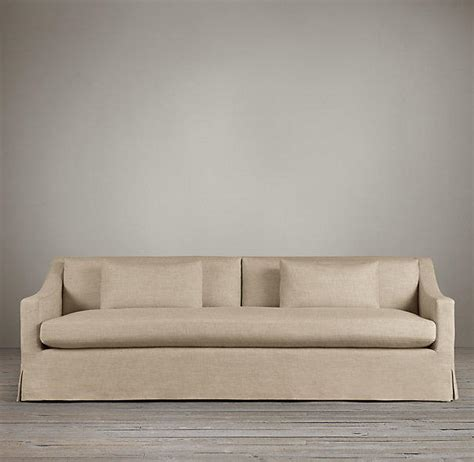 restoration hardware belgian slope arm sofa review belgian classic slope arm slipcovered from restoration