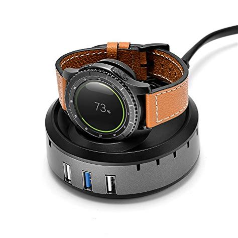Smartwatch Charging Dock Cradle Charger Gear S2 Samsung Original loveblue for samsung gear s3 charger stand dock 3 port usb desktop charger for samsung gear s3