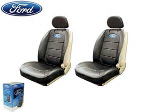 Ford Leather Seat Covers Ford Elite Seat Covers Black Synthetic Leather W Pocket