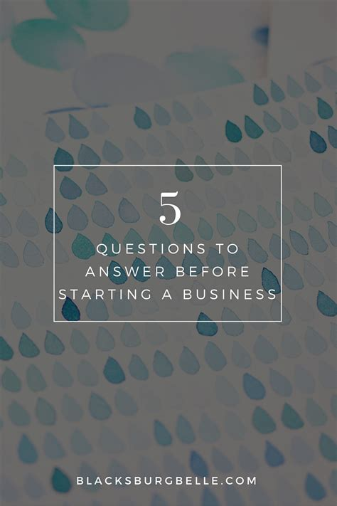5 financial questions to answer before starting a 5 questions to answer before starting a business