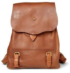 Brown And White Cowhide Fabric Bill Amberg Hunter Full Grain Leather Backpack Men S Bags