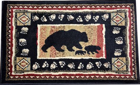western rugs and trading co dean american western lodge cabin ranch area rugs 5 3 quot x 7 3 quot black rustic by dean