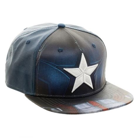 Topi Snapback Captain America Hatsstore 1 marvel civil war captain america ballistic sublimated snapback basebal ooh la la factory