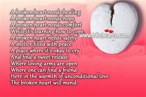 comforting messages for a broken heart healing heart quotes sayings quotesgram