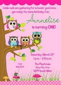owl birthday invitation template owl 1st birthday invitations template best template