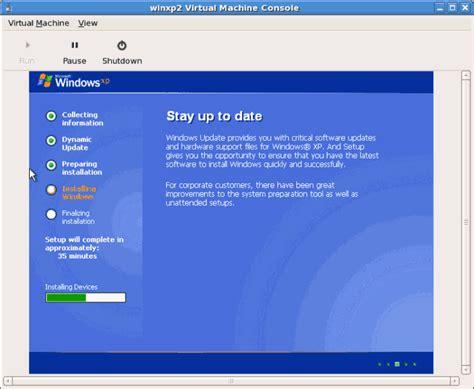 xp setup guide 3 3 installation von windows xp als voll virtualisierter gast
