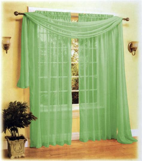 sage green sheer curtains sheer panel voile window curtain scarf set sage green ebay