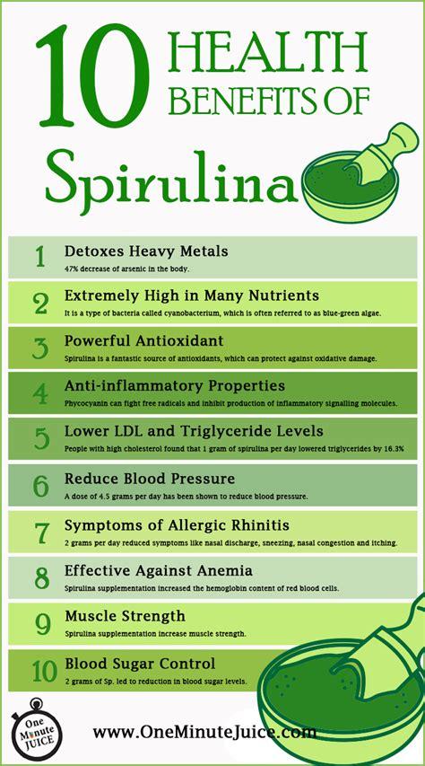Spirulina Detox Benefits by 10 Health Benefits Of Spirulina One Minute Juice
