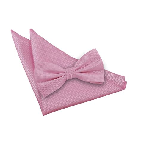 light pink bow men s solid check light pink bow tie 2 pc set