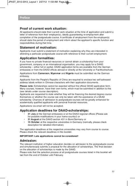 Recommendation Letter Daad lista de cursos de postgrado