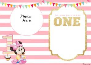 free minnie mouse 1st birthday invitations templates free printable minnie mouse 1st invitation templates