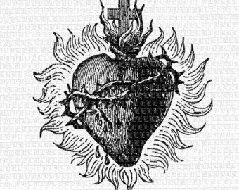 sacred heart tattoos etsy graphic stuff pinterest