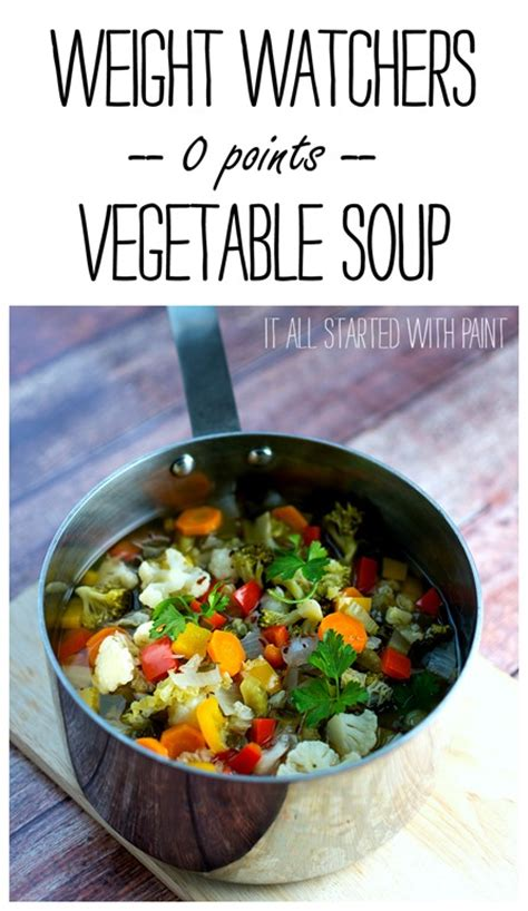 Weight Watchers Recipe For Soup Weight Watchers 0 Point Soup Garden Vegetable