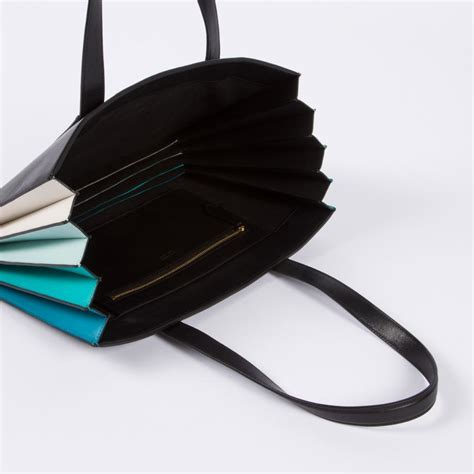 Lara Bohinc Rosetina Foiled Leather Purse by Paul Smith S Black Concertina Small Tote Bag In
