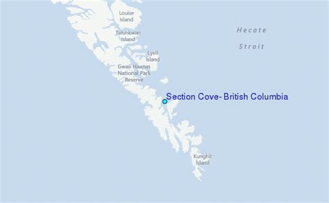 section 8 location section cove british columbia tide station location guide