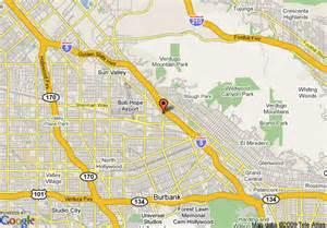 burbank california map map of quality inn burbank burbank