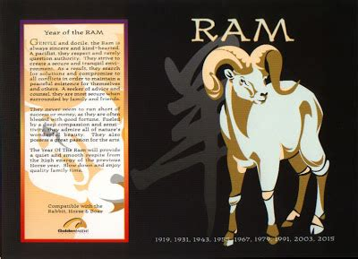 new year goat traits the astrology horoscope signs the ram