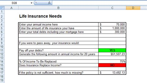 determine your life insurance needs thanks to this excel