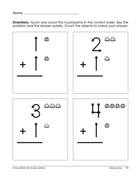 Touch Math Printable Worksheets by 7 Best Images Of Free Touch Math Printable Worksheets