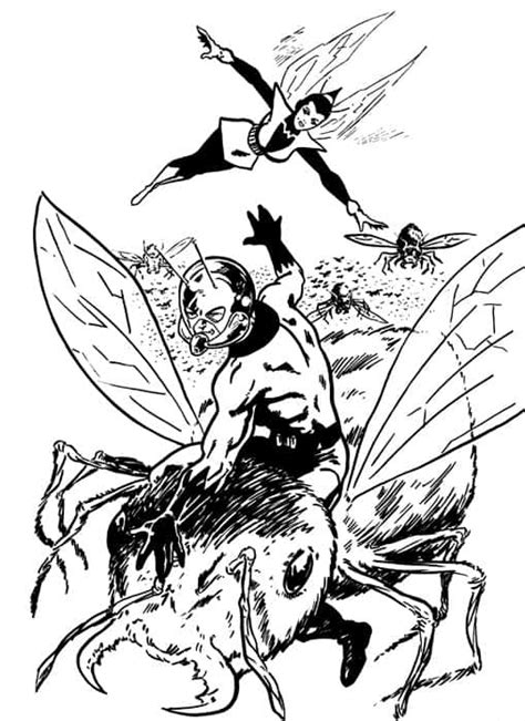 avengers wasp coloring pages free coloring pages of wasp marvel