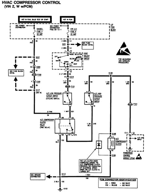 1995 gmc wiring diagram i a 1995 gmc sonoma the a c doesn t work a c clutch