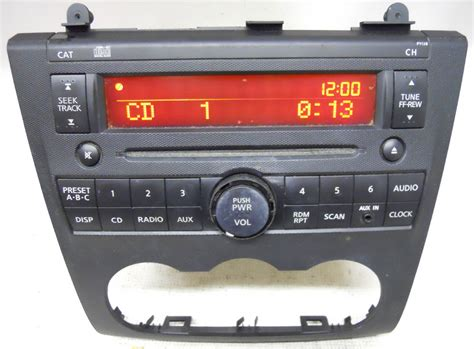 nissan altima    factory cd player radio aux input ja pyb