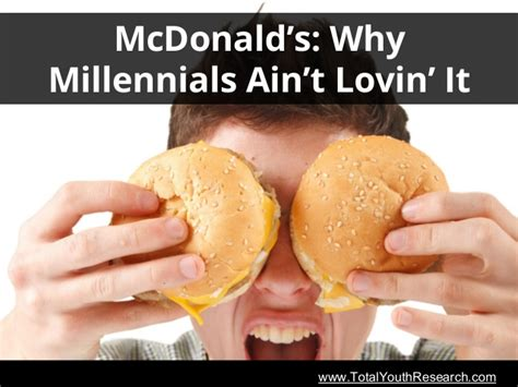 Justin Aint Lovin It by Totalyouthresearch Mcdonald S Why Millennials Ain T