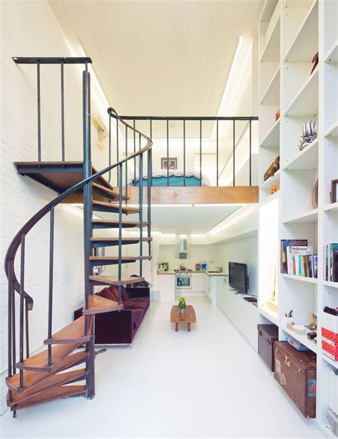 Compact Loft Apartment with Spiral Staircase   iDesignArch