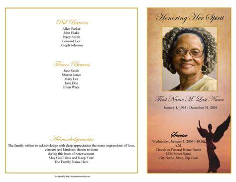 funeral programs 4 page graduated beloved angel