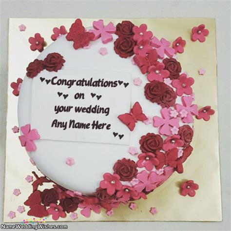 Wedding Cake With Name by Congratulations On Your Wedding Cakes With Name