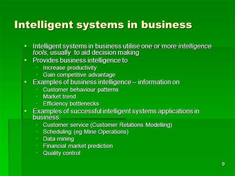 Intelligent System ict619 intelligent systems ppt