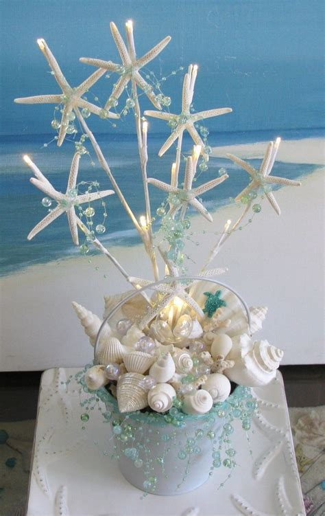 sea themed centerpieces for a wedding white seashell starfish wedding centerpiece decoration