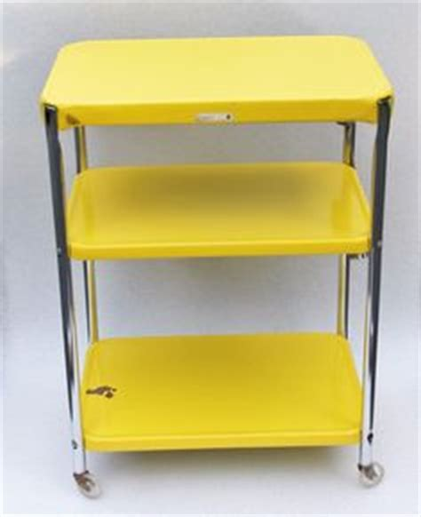 yellow kitchen cart yellow on yellow doors vintage yellow and
