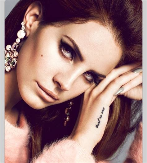 lana del rey tattoo trust no one tattoos