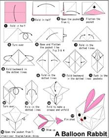 How To Make A Paper Balloon - balloon origami rabbit velikonoce
