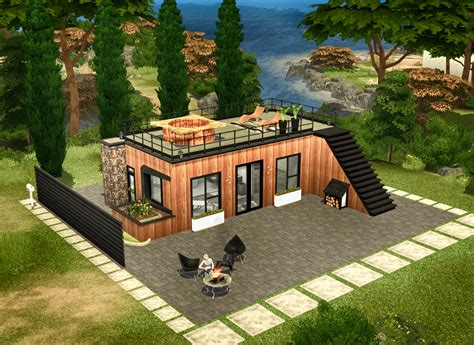 home design for sims 4 sims 4 small modern house modern house plan