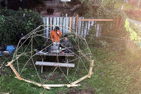 dome kit lets you build a spherical backyard fort