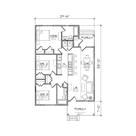 home design carolinian i bungalow floor plan tightlines